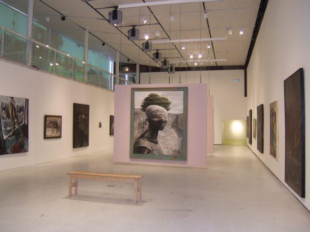 Installation view of Through a Glass Darkly